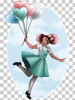 Cartoon Balloon Turquoise PNG