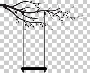 Silhouette Swing Black And White Drawing PNG
