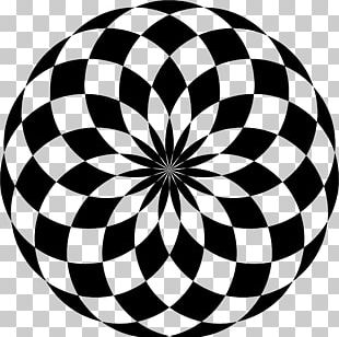 Black Circle Black And White Abstract Art PNG