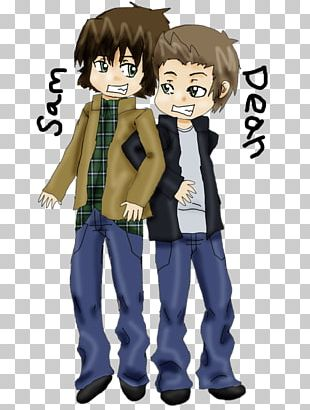 Sam Winchester Dean Winchester Castiel Chibi Drawing Png Clipart