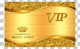 Business Card Gold Template PNG