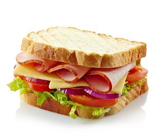 Ham Sandwich Ham And Cheese Sandwich Club Sandwich Bacon PNG