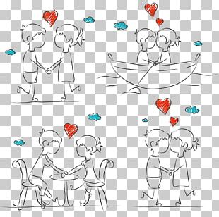 Drawing Couple Stick Figure Sketch PNG