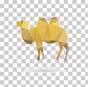 Camel Giraffe Cartoon Origami PNG