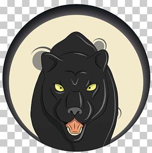 Cat Puma Cartoon Snout Black Panther PNG