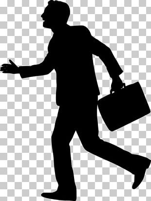 Businessperson Silhouette Graphic Design PNG