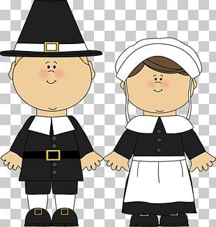 Pilgrims Girl Boy PNG