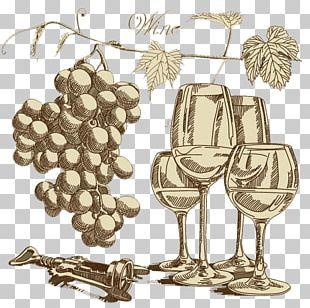 Wine Glass Grape PNG