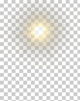 Lens Flare Yellow PNG