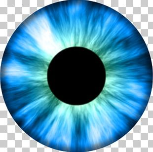 Eye Iris Texture Mapping Color Blue PNG