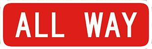 All-way Stop Traffic Sign Stop Sign Regulatory Sign PNG