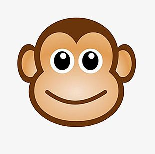 Big Face Monkey PNG