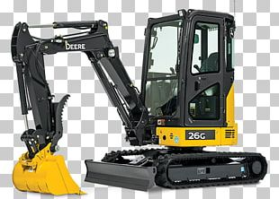 John Deere Compact Excavator Architectural Engineering Machine PNG