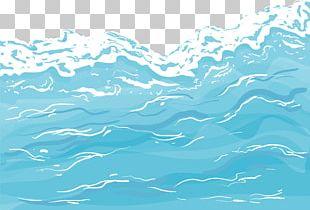 Cartoon Lake Water Spray PNG