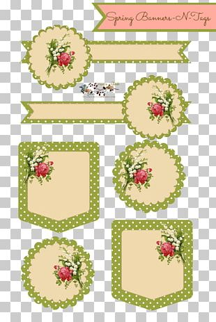 Paper Floral Design Flower Tag PNG