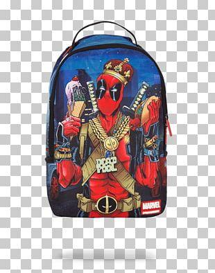 Deadpool Spider-Man Marvel Comics Backpack Bag PNG