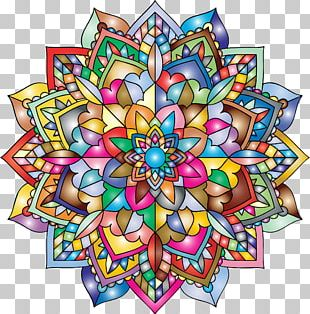 Mandala Art Coloring Book PNG