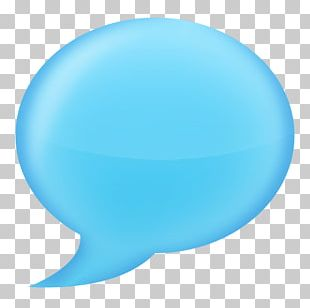 Chat Bubble Blue PNG