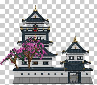 Japanese Castle Architecture Facade PNG