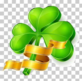 Saint Patricks Day Four-leaf Clover Shamrock PNG