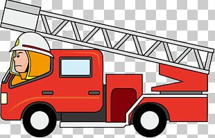 Car Fire Engine Truck Firefighter PNG