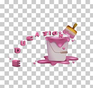 Pink Painting Bucket PNG