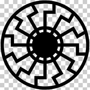 Black Sun Sun Cross Symbol Christian Cross PNG
