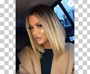 Khloé Kardashian Bob Cut Lob Hairstyle PNG