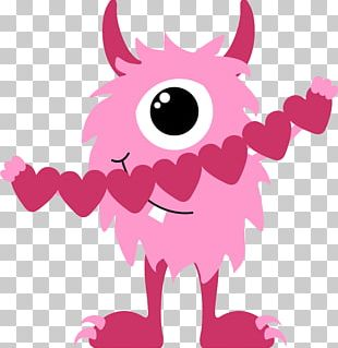 Valentine's Day Heart Monster PNG