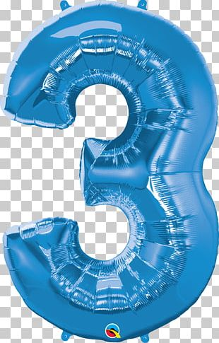 Balloon Party Birthday Blue Inflatable PNG