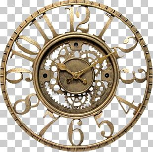 Clock Steampunk Wall Shelf PNG