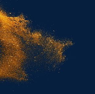 Gold Powder Particles Explode PNG