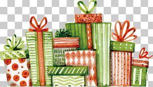Christmas Gift Christmas Gift Watercolor Painting Christmas Dinner PNG