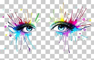 Painting Drawing Eye Art Rainbow PNG