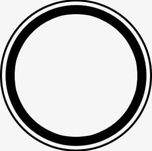 Black Circles Circular Lines PNG