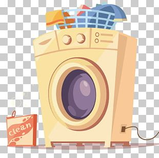 Washing Machine Flat Design PNG