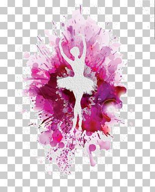 Ballet Dancer Watercolor Painting PNG