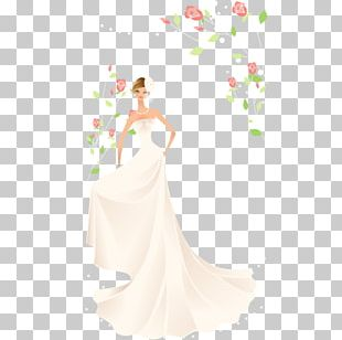 Bride Contemporary Western Wedding Dress PNG
