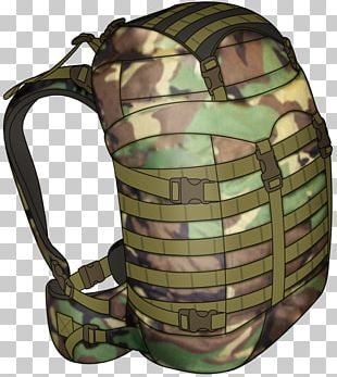 Military Camouflage Backpack PNG