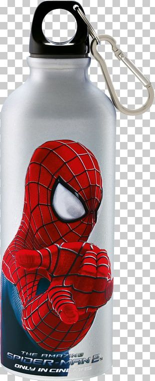 Spider-Man Marvel Comics Superhero Movie Water Bottles PNG