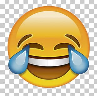 Face With Tears Of Joy Emoji Laughter Sticker PNG