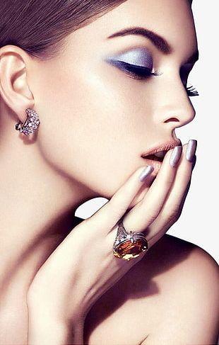 Fashion Makeup Female Face Closeup PNG