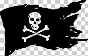 Jolly Roger Piracy Flag Decal PNG