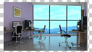 Desk Window Office Interior Design Services Chair PNG