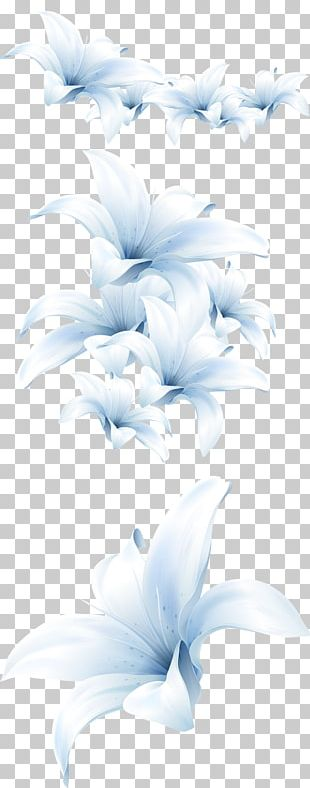 Flower Bouquet Lilium Candidum White PNG