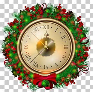 Christmas Eve Clock Santa Claus PNG