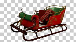Rudolph Santa Claus Village Reindeer Sled PNG