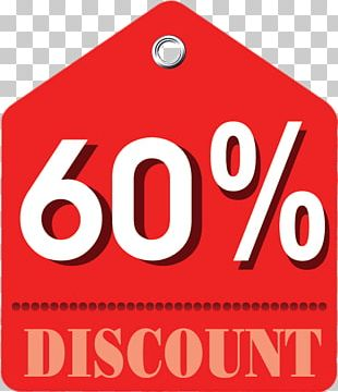 60% Discount Label PNG