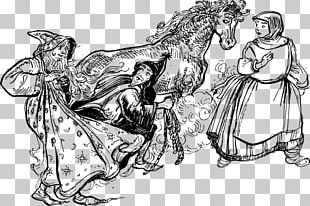 Black And White Fairy Tale Fantasy PNG