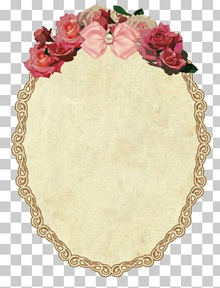 Vintage Oval Frame With Flowers PNG